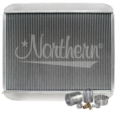 "Northern Radiator - Northern 209683B Customizable Aluminum Radiator 25-1/2"" x 22"" Welding Required"