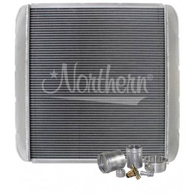 "Northern Radiator - Northern 209684B Customizable Aluminum Radiator 25-1/2"" x 26"" Welding Required"