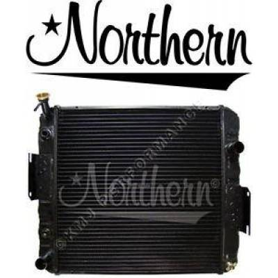 Northern Radiator - Northern 246091 Hyster Yale Forklift Radiator S40-S65XM D187 w/ Oil Cooler