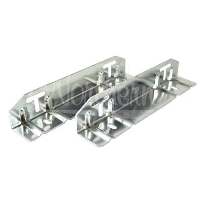 Northern Radiator - Northern Z12014 Radiator Flange Mounting Brackets Kit Slotted Pair Set Of Two 2