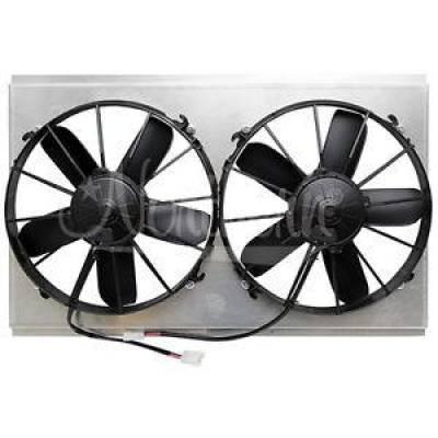"Northern Radiator - Northern Z40092 Universal Dual 12"" Electric Radiator Fan & Shroud Combo 26 x 15"