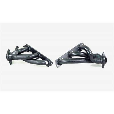 PaceSetter Performance Products - Pace Setter 70-1077 Painted Steel Shorty Headers 2001-2004 Mustang 3.8L V6 w EGR