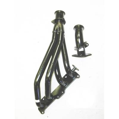 PaceSetter Performance Products - Pace Setter 70-1182 96-00 Toyota Tacoma 2.7L 4WD Steel Exhaust Header Painted