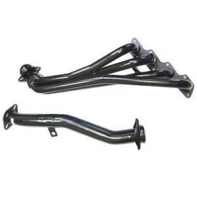 PaceSetter Performance Products - Pace Setter 70-1196 Black Header for 1998-2000 Nissan Frontier 2.4L 5-Spd 2WD