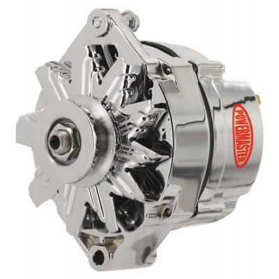 Ignition & Electrical - Alternators and Brackets - Powermaster - Powermaster 17102 GM 65A External Regulator 10DN Style Alternator Chrome