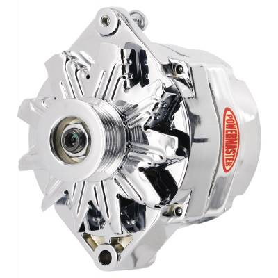 Ignition & Electrical - Alternators and Brackets - Powermaster - Powermaster 17294-114 GM 100A 12SI Alternator w/ 6-Groove Pulley Chrome 12:00