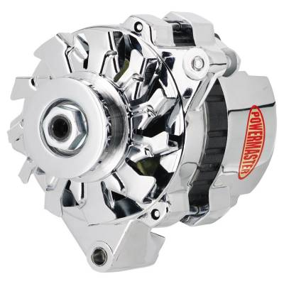 Ignition & Electrical - Alternators and Brackets - Powermaster - Powermaster 179261 GM CS121 Mini Delco Alternator 100A One Wire VR Chrome