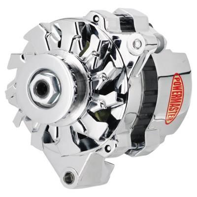 Ignition & Electrical - Alternators and Brackets - Powermaster - Powermaster 179261 GM CS121 Mini Delco Alternator 100A One Wire VR Chrome