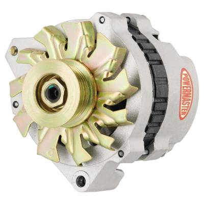 Ignition & Electrical - Alternators and Brackets - Powermaster - Powermaster 47861 GM Chevy 140A CS130 Alternator w/6 Groove Pulley Left Mount