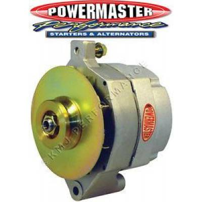 Ignition & Electrical - Alternators and Brackets - Powermaster - Powermaster 8-46100 Jeep 100 Amp Upgrade Alternator w/ Serpentine Pulley Natural
