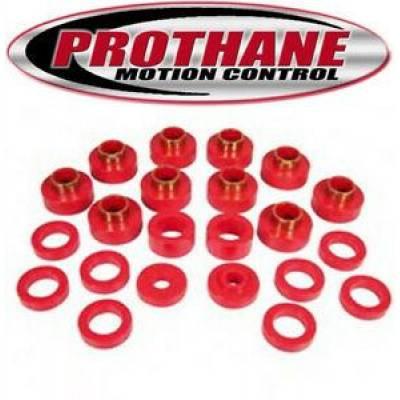 Prothane Motion Control - Prothane 1-104 81-86 Jeep CJ8 Scrambler Body Mount Bushings Kit Polyurethane