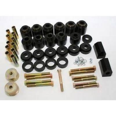 Prothane Motion Control - Prothane 1-113-BL 87-96 Jeep Wrangler YJ 1-inch Lift Body Mount Bushing Kit Poly