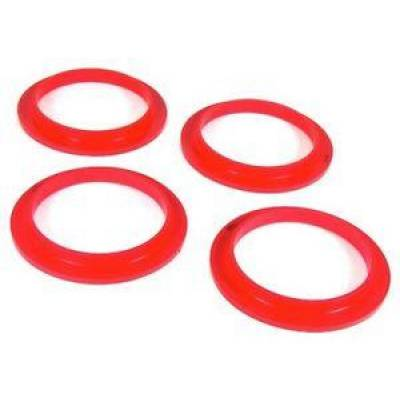 - Prothane Motion Control - Prothane 1-1706 1964-69 AMC Javelin AMX Front Coil Spring Isolator Kit Red Poly