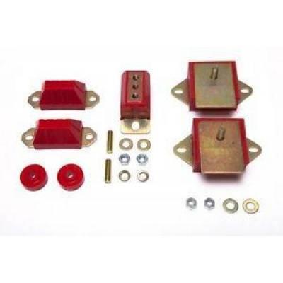 Prothane Motion Control - Prothane 1-1901 Motor & Transmission Mount Kit 76-86 CJ5 CJ7 258CI 6 Cyl Poly