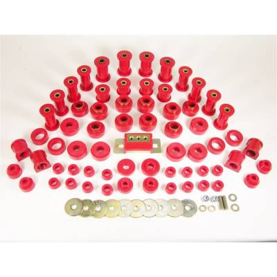 Prothane 1-2009 1987-1996 Jeep Wrangler Complete Suspension Bushing Kit Red Poly
