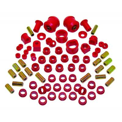 Car Accessories - Prothane Motion Control - Prothane 14-2006 1995-1998 Nissan 240SX Total Suspension Bushing Kit Red Poly