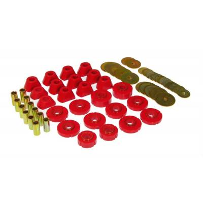 SUV Accessories - Prothane Motion Control - Prothane 7-105 1967-72 K5 Chevy GMC Blazer Jimmy Body Mount Bushing Kit Red Poly