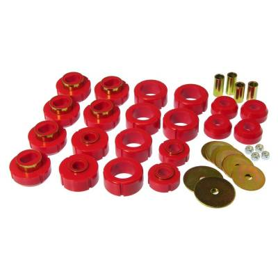 SUV Accessories - Prothane Motion Control - Prothane 7-110 1981-1991 Chevy GMC 4WD Blazer Jimmy Body Mount Bushing Kit Red