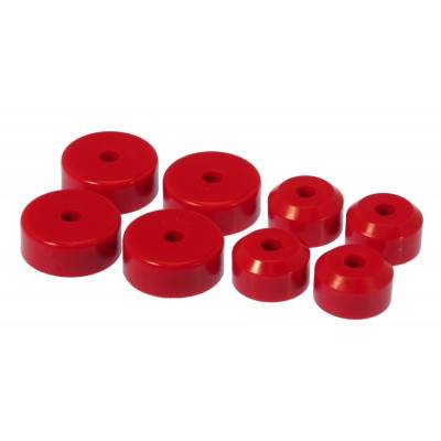 Prothane Motion Control - Prothane 7-503 1955-1957 Chevy Bel Air Motor Mount Kit V8 Engine Only Red