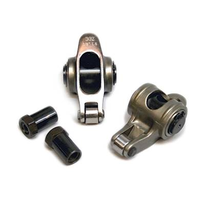 "Valvetrain & Camshaft Components - Rocker Arms - PRW Industries - PRW 0235005 Vortec SBC Chevy Stainless Roller Rockers 1.60 Ratio 3/8"" Stud"