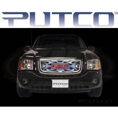 SUV Accessories - Putco - PUTCO 89436 Flaming Inferno Steel Grille Blue Painted 2002-2008 GMC Envoy SUV