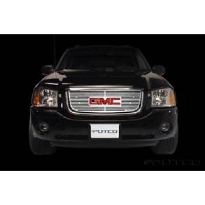 SUV Accessories - Putco - PUTCO 91133 Liquid Mirror Solid Billet Aluminum Grille 2002-2006 GMC Envoy XL