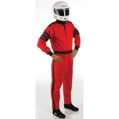 Racequip - 2XLarge Red Single Layer 1 Piece Race Driving Fire Safety Suit SFI 3.2A/1 Rated