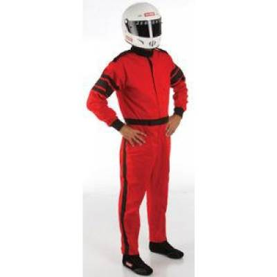 Racequip - 3XLarge Red Single Layer 1 Piece Race Driving Fire Safety Suit SFI 3.2A/1 Rated