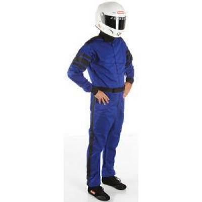 - Racequip - RaceQuip 110028 1pc Blue Single Layer Race Driving Fire Suit SFI 3.2A/1 Rated