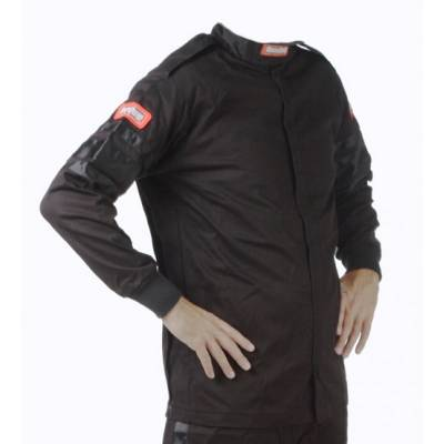 - Racequip - RaceQuip 111004 Medium Tall Black Single Layer Race Driving Fire Suit Jacket SFI