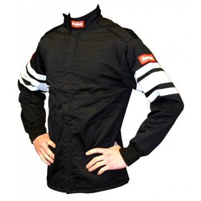 - Racequip - Medium Red Single Layer Race Driving Fire Safety Suit Jacket SFI 3.2A/1 Rated