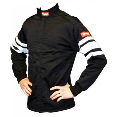 - Racequip - RaceQuip 111015 Large Red 2pc Single Layer Race Driving Fire Suit Jacket SFI 3.2