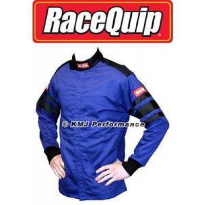 - Racequip - RaceQuip 111027 2X-Large Blue Single Layer Race Driving Fire Suit Jacket SFI 3.2