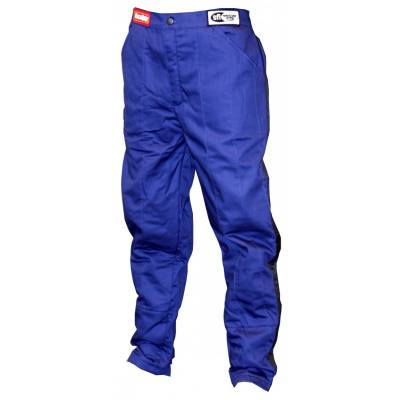 - Racequip - Medium Tall Blue Single Layer Race Driving Fire Safety Suit Pants SFI3.2A1 Rated
