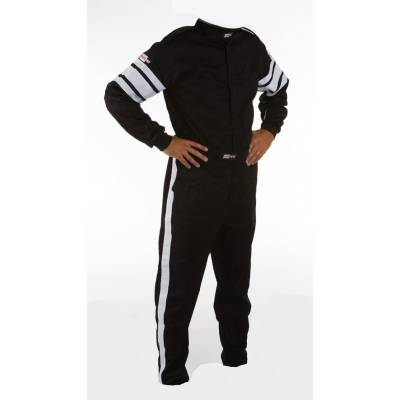 - Racequip - Medium Black Multi-Layer 1 Piece Race Driving Fire Safety Suit SFI 5 Rated