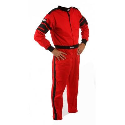 Racequip - Medium Tall Red Multi-Layer 1 Piece Race Driving Fire Safety Suit SFI 5 Rated