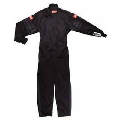 Racequip - Racequip 1959990 Black Trim Kid XX Small 1pc Single Layer Kids Suit SFI 3.2A/1