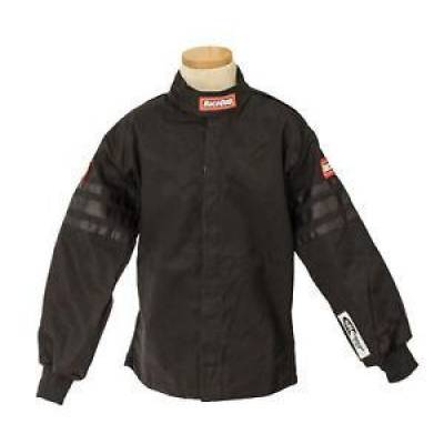 Racequip - Large Kids Youth Black Trim Single Layer Race Driving Safety Fire Suit Jacket