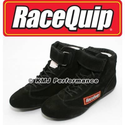 - Racequip - RaceQuip 30300100 Size 10 Mid-Top SFI Racing Driving Shoes Black Suede Karting