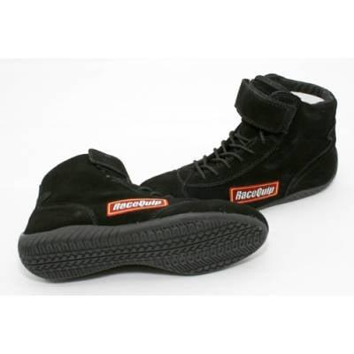 Racequip - RaceQuip 30300110 Size 11 Mid-Top SFI Rated Racing Driving Shoes Black Suede