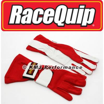 Racequip - RaceQuip 312016 X-Large 2-Layer Red Auto Racing Driving Gloves Nomex SFI Rated