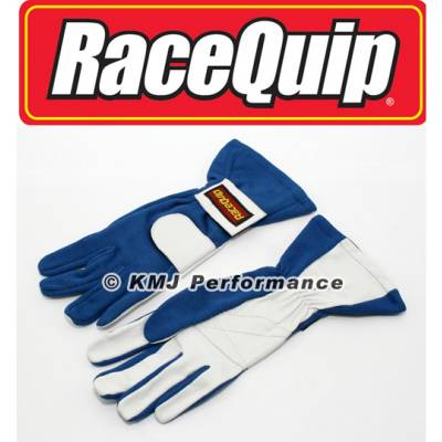 Racequip - RaceQuip 312026 X-Large 2-Layer Blue Auto Racing Driving Gloves Nomex SFI Rated
