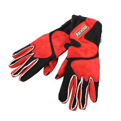 Racequip - RaceQuip 356105 Large 2-Layer Red/Black Racing Driving Gloves Nomex SFI Rated