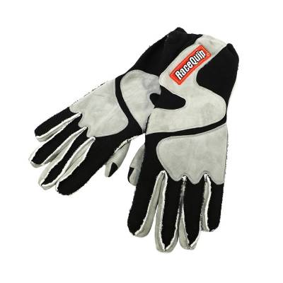 Racequip - RaceQuip 356605 Large 2-Layer Gray/Black Racing Driving Gloves Nomex SFI Rated