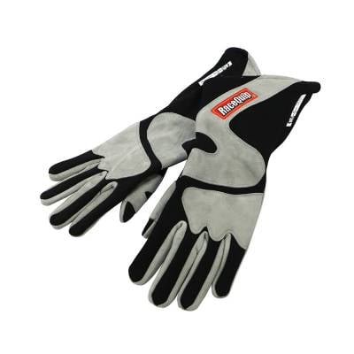 Racequip - RaceQuip 358606 X-Large 2-Layer Gray/Black Racing Driving Gloves Nomex SFI Rated