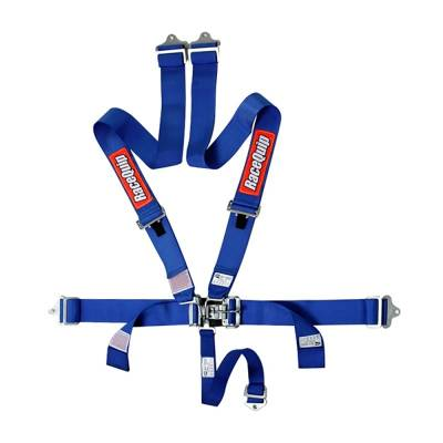 Safety & Seats - Nets and Harnesses - Racequip - RaceQuip 711021 Blue Race Car Seat Belts 5 Point SFI Safety Harness IMCA Wissota