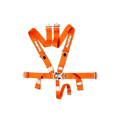 Safety & Seats - Nets and Harnesses - Racequip - RaceQuip 711041 Orange Race Car Seat Belts 5pt SFI Safety Harness IMCA Razor RZR