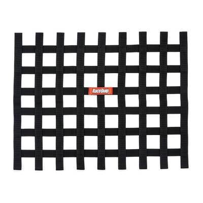 Safety & Seats - Nets and Harnesses - Racequip - RaceQuip 721005 Black Non SFI Safety Ribbon Window Net Sprint Car Circle Track