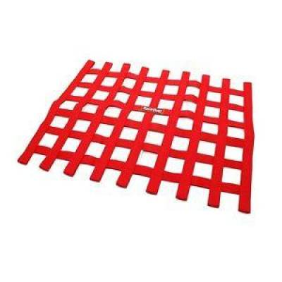 Safety & Seats - Nets and Harnesses - Racequip - RaceQuip 721015 Red Non SFI Safety Ribbon Window Net Sprint Car Circle Track