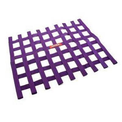 Safety & Seats - Nets and Harnesses - Racequip - RaceQuip 721055 Purple Non SFI Safety Ribbon Window Net Sprint Car Circle Track